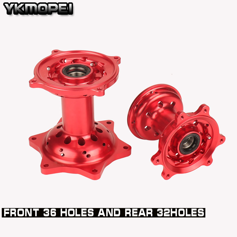 Motorcycle CNC Front 36 Holes And Rear 32 Holes Wheel Hub For HONDA CR 125 250 CRF250R CRF450R CRF450X <font><b>CRF250X</b></font> CRF250 450RX image