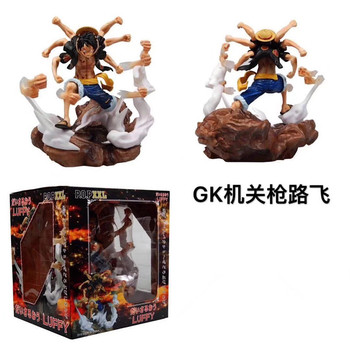Anime One Piece P.O.P XXL Monkey D Luffy Gomu Gomu No Gatling Ver. PVC One Piece Luffy Action Figure Collectible Model Toy 1