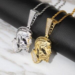 Image 5 - TOPGRILLZ collier et pendentif Nipsey, R.I.P Nipsey, avec chaîne de Tennis glacée, en Zircon cubique brillant, bijoux Hip Hop pour hommes