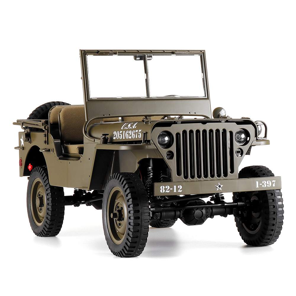 RC Car 1:6 ROCHOBBY 2.4Ghz 2CH 1941 MB SCALER Radio Control Car Waterproof Vehicle Models Fully Proportional Toys For Children