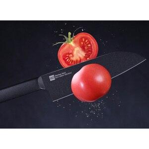 Image 5 - Orijinal Huohou serin siyah mutfak değil yapışkan bıçağı 2 adet paslanmaz çelik kesme makinesi seti