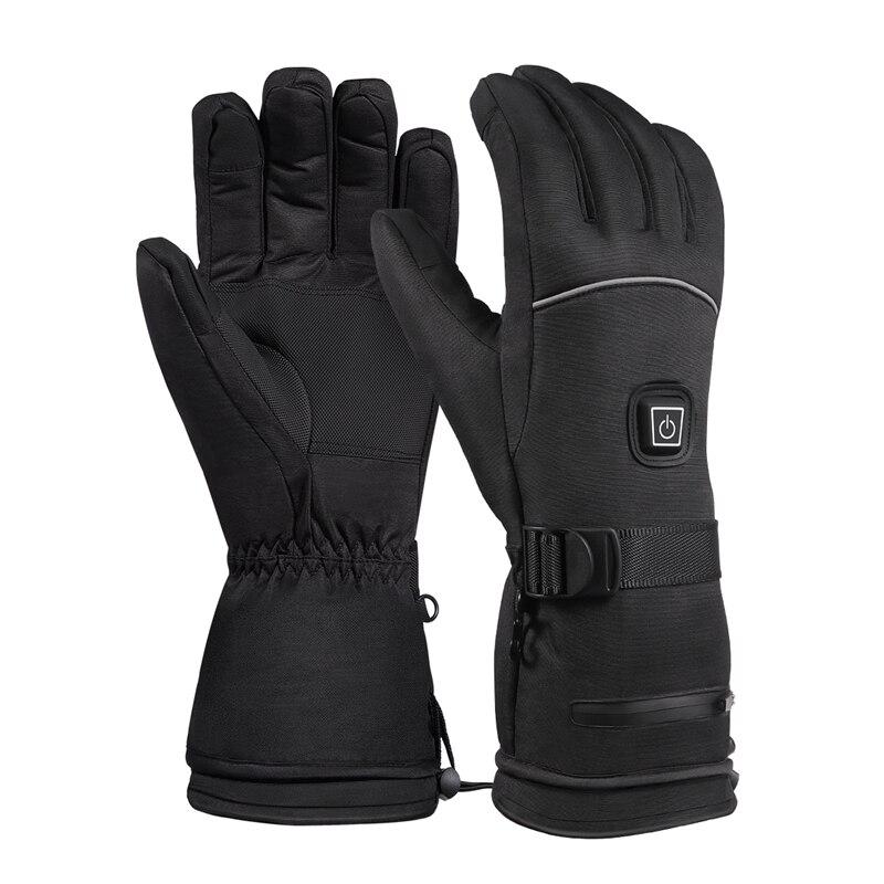 Зимние спортивные перчатки для подогрева аккумуляторной батареи, трехскоростные термостаты, водонепроницаемые теплые перчатки для увелич...
