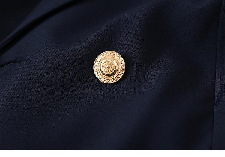 High-quality professional women's blazer 2020 Casual fashion double-breasted jacket feminine Elegant suit plus size M-5XL