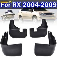 Conjunto de carro mud flaps para lexus rx330 rx350 rx400h 2004-2009 mudflaps respingo guardas lama flap para-lamas fender 2005 2006 2007 2008