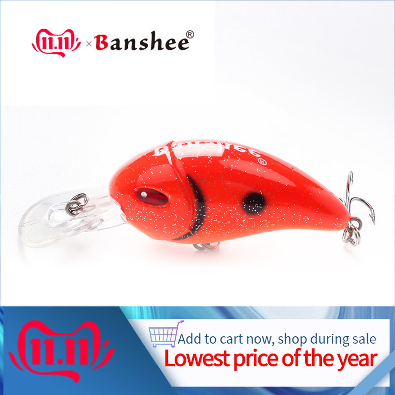 Banshee 47mm 6.2g Small Crankbait Fishing Lures Pike Wobblers For Trolling Perch Lure Fishing Artificial Bait Hard/Floating/Bass