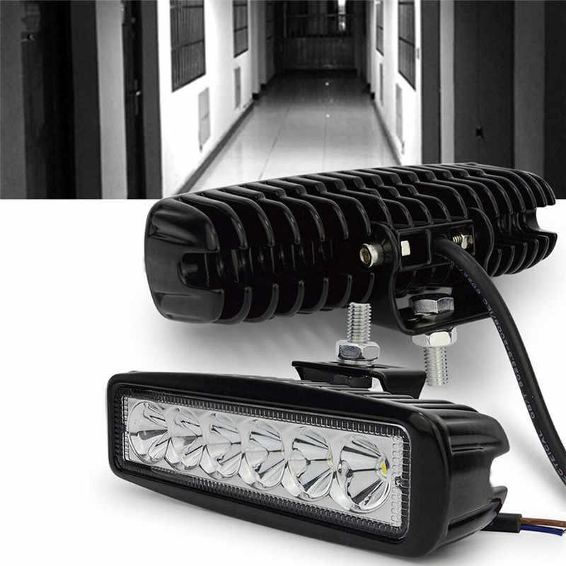 Led Verlichting 12v Driving Fog Offroad Auto Licht Waterdichte Verstelbare Led Verlichting Bar Spotlight Flood Lamp 18w 6000k