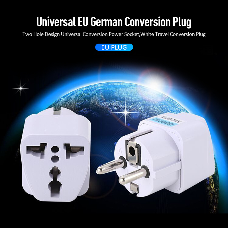 Universal EU Plug Adapter International AU UK US To EU Euro Travel Adapter Electrical Plug Converter Power Socket Adaptors TSLM2(China)