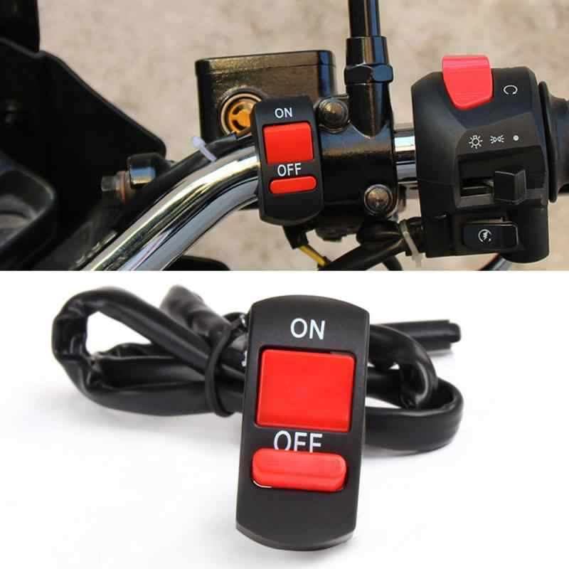 Sepeda Motor Handlebar Mount Tombol On-Off Switch Double Flash Berbahaya Lampu Switch Controller Switch