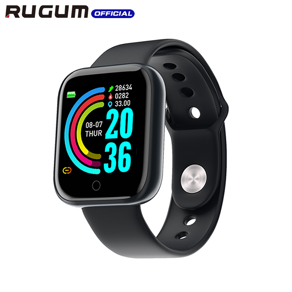 Blood Pressure Heart Rate Smart Wristband IP68 Waterproof Fitness Tracker Sport Smartwatch for men women RUGUM Y68 Smart Watch 1