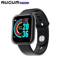 ضغط الدم معدل ضربات القلب الذكية معصمه IP68 مقاوم للماء جهاز تعقب للياقة البدنية الرياضة Smartwatch للرجال النساء rugumy68 ساعة ذكية