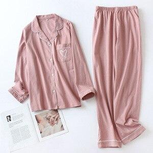 Image 3 - Зимние пижамы для женщин с длинным рукавом и принтом, пижамный комплект, Корейская пижама с длинным рукавом размера плюс, Женский пижамный комплект, тонкие пижамы Mujer