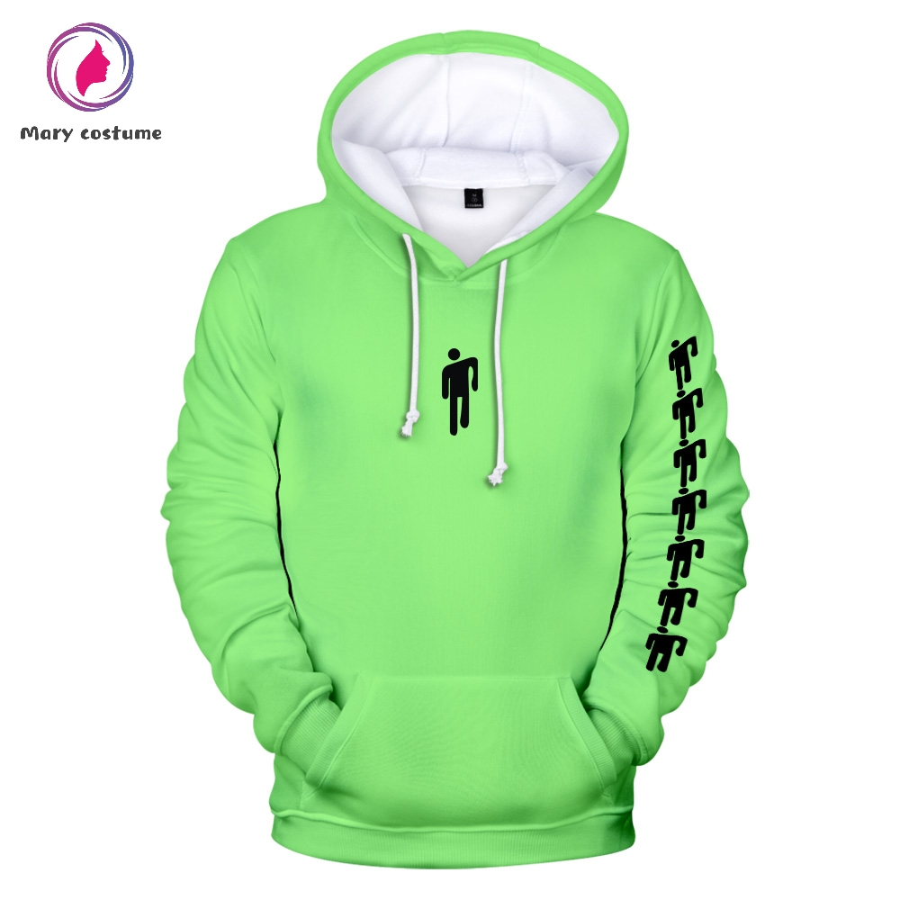 New Billie Eilish Harajuku NEON GREEN Hooded Sweatshirt Men/Women Spring Casual Hip Hop Harajuku Hooded Hot Sale Clothes