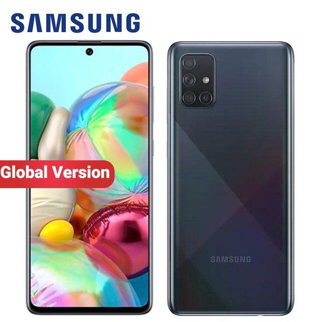 "Global Version Samsung Galaxy A71 A715F/DS 8GB 128GB Mobile Phone Snapdragon 730 6.7"" Quad Camera 64MP 32MP 4500mAh 4G Smartphon 1"