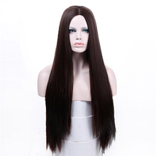 MANWEI Long Straight Hair Middle Part Synthetic Wig For Wome