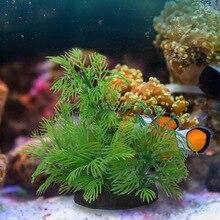Underwater Aquatic Artificial Plant Ornaments for Aquarium Fish Tank Green Water Grass