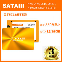 Teclast SSD SATAIII 128G/240G/480G/512G/960G/1TB Three-year Warranty Solid State Drive work for Desktop and Laptop