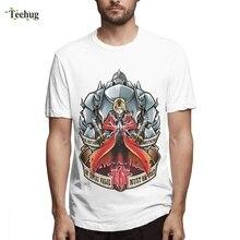 Crewneck For Man Fullmetal Alchemist Cartoon Homme Tee Shirt Crazy Unique Quality Cotton T SHIRT