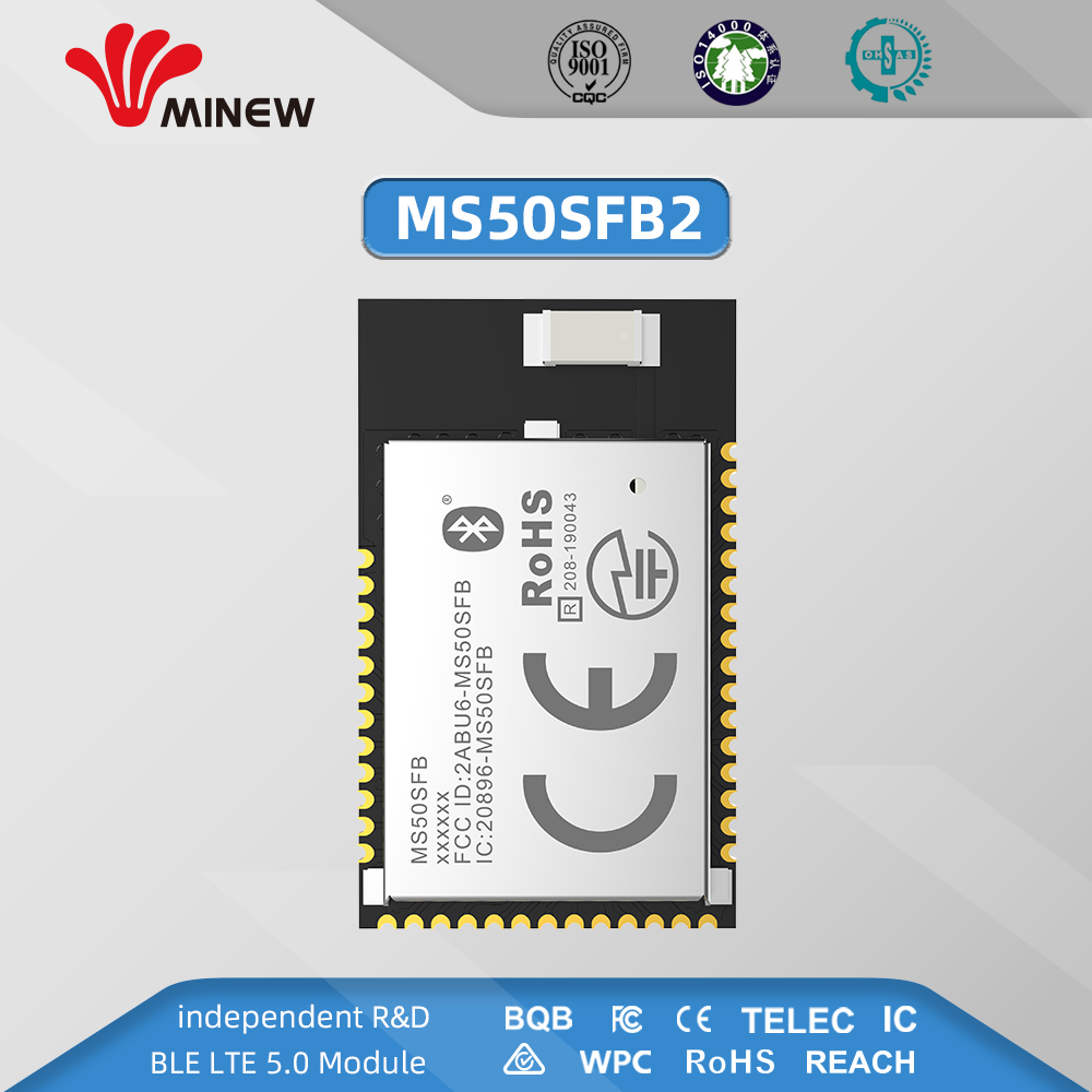NRF52832 2.4GHz Transceiver Wireless Rf Module Minew MS50SFB BLE 5.0 Receiver Transmitter Bluetooth Module