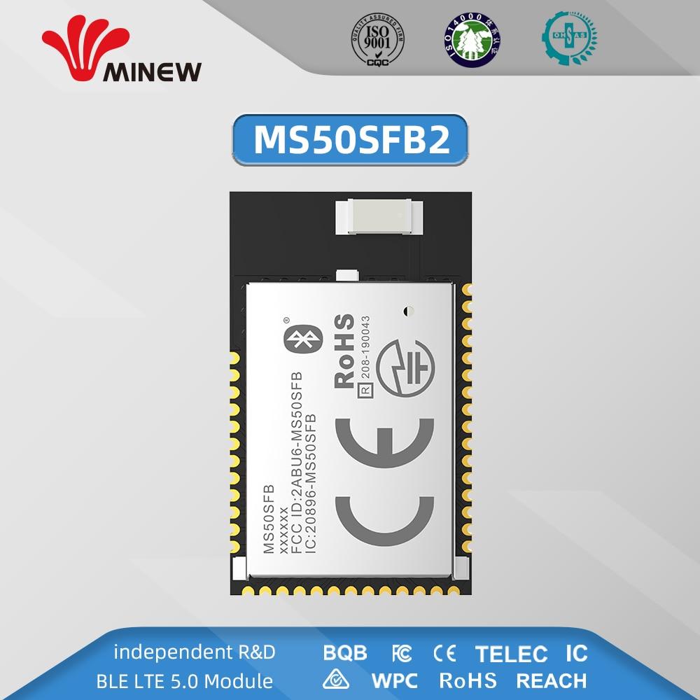 NRF52832 2.4GHz Transceiver Wireless Rf Module Minew MS50SFB BLE 5.0 Receiver Transmitter Bluetooth Module