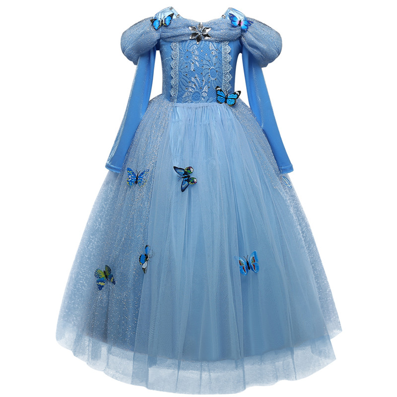 Princess Cosplay Costume Dresses For Girls Party Clothing Kids Children Dress Up 5
