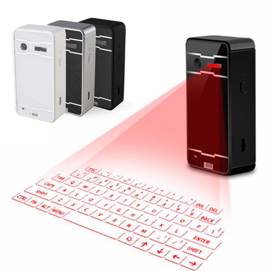 F1 Bluetooth Laser Keyboard Wireless Virtual Projection Keyboard Portable For IPhone Android Smart Phone Ipad Tablet PC Notebook