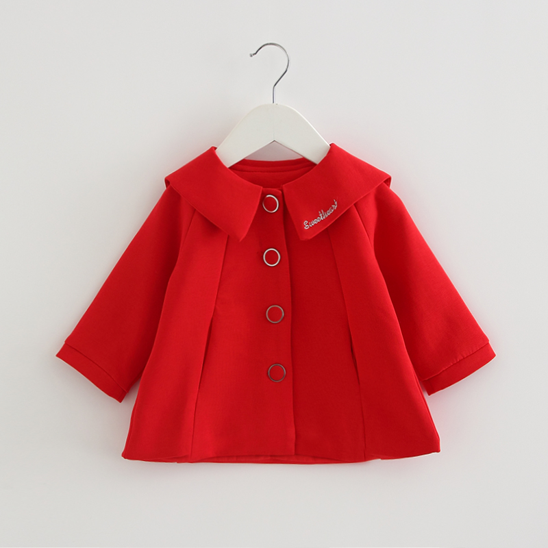Newborn Girls Coat Baby 2020 Spring Jacket Kids Infant Cotton Bebe Outerwear Children Clothes For Girls 0-2Y Red And Pink