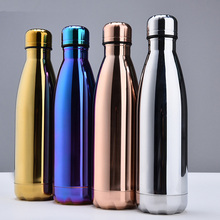 Stainless Steel Thermos Vacuum Insulated Cola Cup Bottle Water Bottles Double-Wall For Outdoor Travel Drinkware Gym Sports Flask