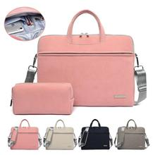 13 13.3 14 15.6 inch Laptop Bag PU Leather Computer Briefcase Sleeve Pouch Case for MacBook Air Pro Samsung Lenovo Dell Sony Bag