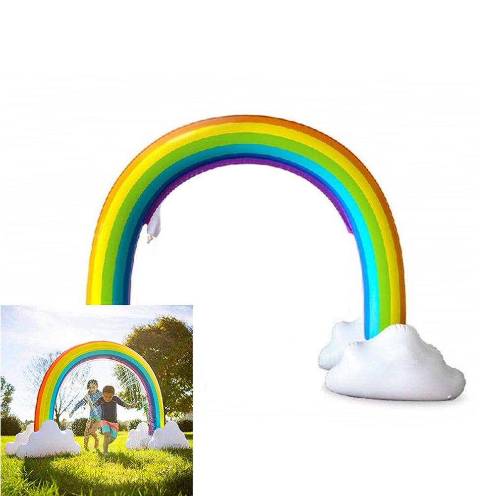 Inflatable Water Spray Toy Children's Inflatable Sprinkler Toy Rainbow Yard Safe Large Summer Water Spray For Outdoor Use
