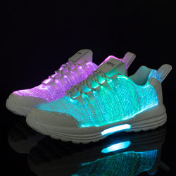 Plus Size 35-46 Luminous Sneakers Outdoor Running Shoes Women Men Boys Girls USB Charging Party LED Light up Dance Shoes