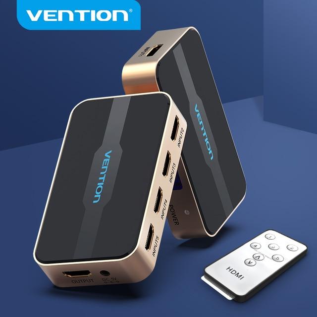Vention HDMI التبديل 5x1 مقسم الوصلات البينية متعددة الوسائط وعالية الوضوح (HDMI) 5 المدخلات 1 الناتج محول ل XBOX 360 PS4 الذكية أندرويد HDTV 4K 5 في 1 خارج HDMI الجلاد