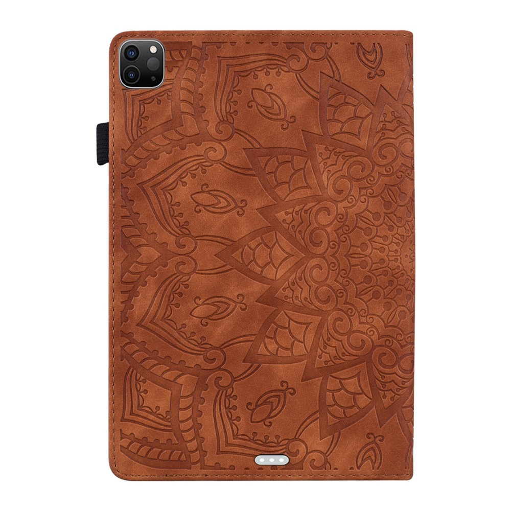 Cover Embossed Leather 4th 12.9 For Generation 3D Pro 2020 iPad Case Flower Folding