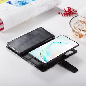 Image 3 - 2 en 1 Magnétique portefeuille en cuir synthétique polyuréthane étui pour samsung Galaxy Note 10 Plus 8 9 S10 Plus S10e S9 S8 Plus 9 Fentes Pour Cartes Flip Stand Sac