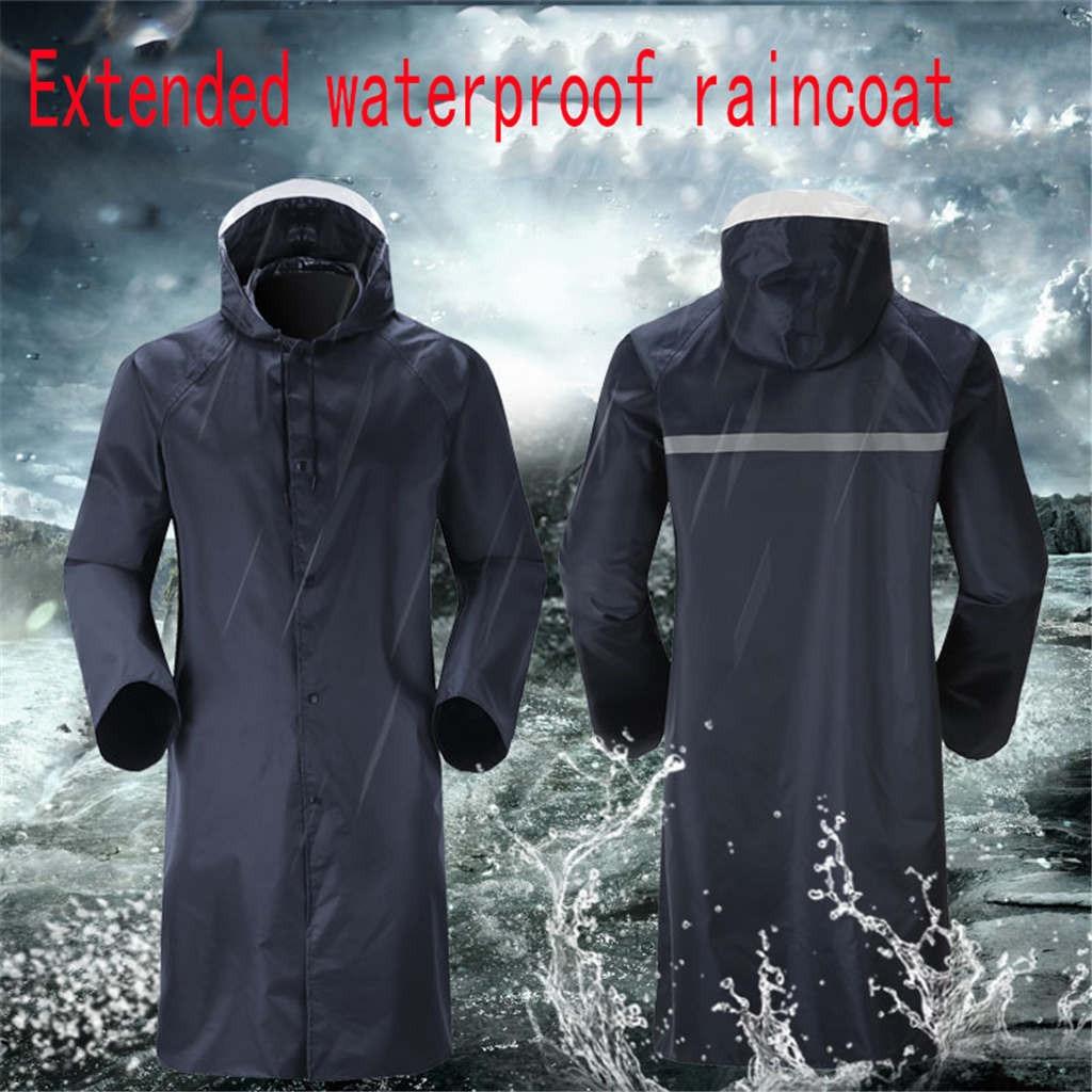 Women Men EVA Hooded Raincoat Waterproof Jacket Poncho Long Sleeve Rainwear Coat