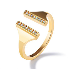 New Gold Opening Crystal Rings For Women Fashion Jewelry Rings Female Engagement Ring Good Friends Ring Accessories Ladies Gifts(China)