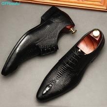 QYFCIOUFU Handmade Mens Wingtip Oxfords Whole Cut Black Brown Genuine Calf Leather Luxury Wedding Men Dress Shoes Business Man цена 2017