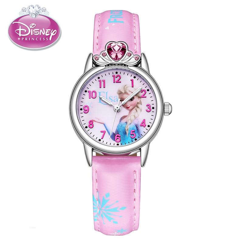 Frozen Elsa Princess Children Watches Ladies Watch Girls Birthday Kids Gift Clock Student Time Bling Beautiful Rhinestone Reloj