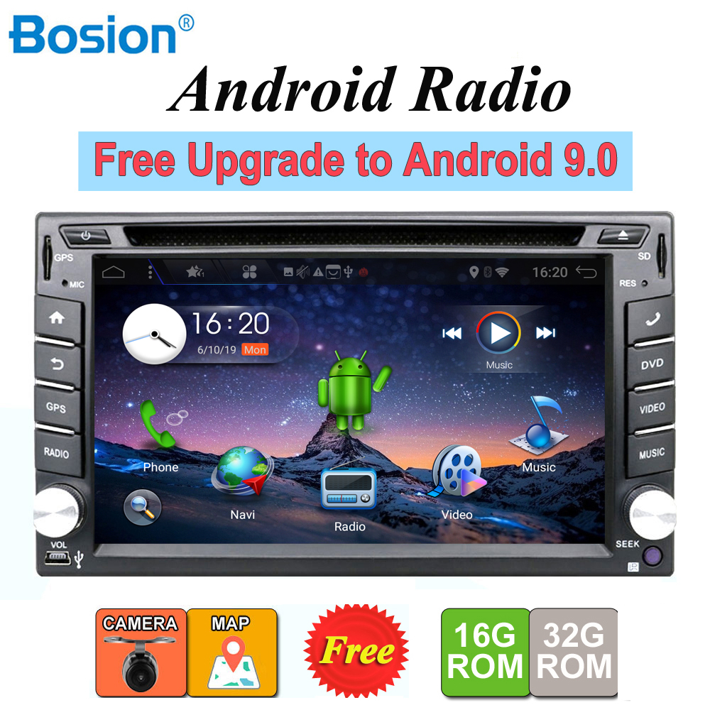 2 din android 9.0 car radio tape recorder stereo For Universal 2din autoradio car dvd GPS Navigation Steering-Wheel Wifi Map image