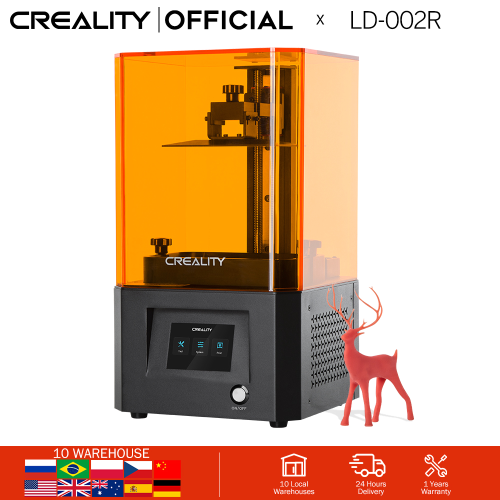 CREALITY 3D Printer LD-002R UV Resin 3D Printer LCD Photocuring Ball Linear Rails Air Filtration System Off-line Printing