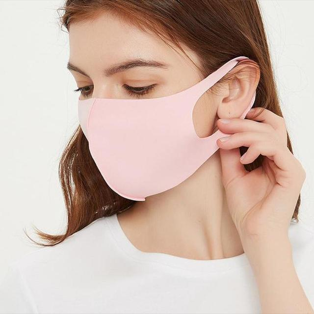 5pcs Masks Men and Women Dustproof Breathable Anti-fog and Cold-proof Warm Black Polyurethane Korean Tide Sponge Can Be Cleaned 3