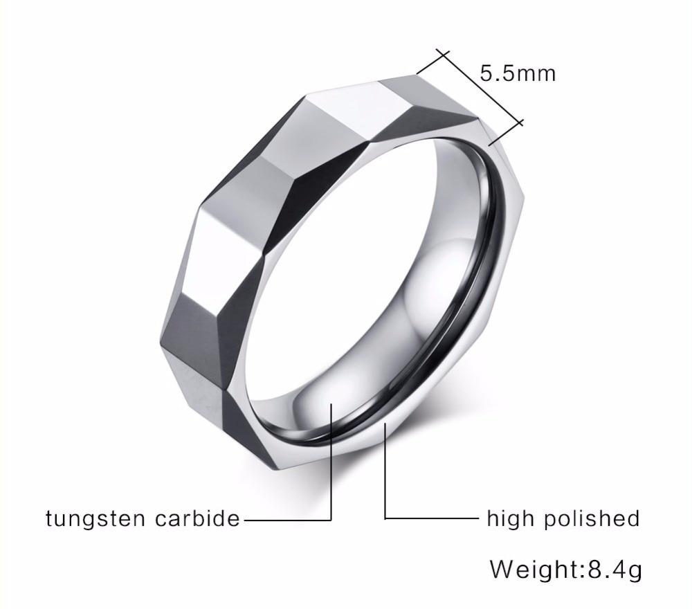 Men Tungsten carbide Rings silver 16