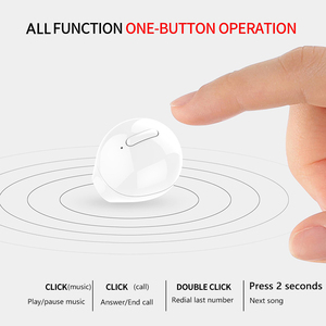 Image 5 - SQRMINI X20 Ultra Mini Wireless Single Earphone Hidden Small Bluetooth 3 hours Music Play Button Control Earbud With Charge Case