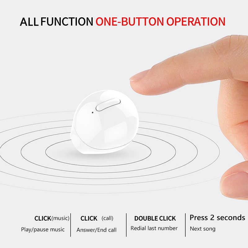 SQRMINI X20 Ultra Mini kablosuz tek kulaklık gizli küçük Bluetooth 3 saat müzik çalma düğmesi kontrol kulaklık ile şarj durumda
