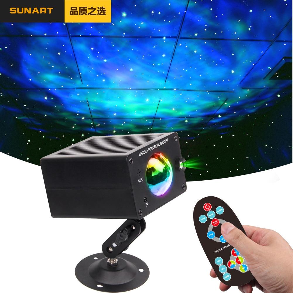 Frete grátis led galaxy efeito de palco iluminação strobe projetor laser noite bola discoteca natal lâmpada do feriado para festa dj