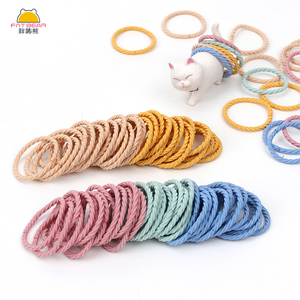 100 Pcs/Set Cute Baby Nylon Hair Band Spiral Colorful Elastic Hair Holder For Girls Kids Tie Toddler Hair Rope Hair Accessories