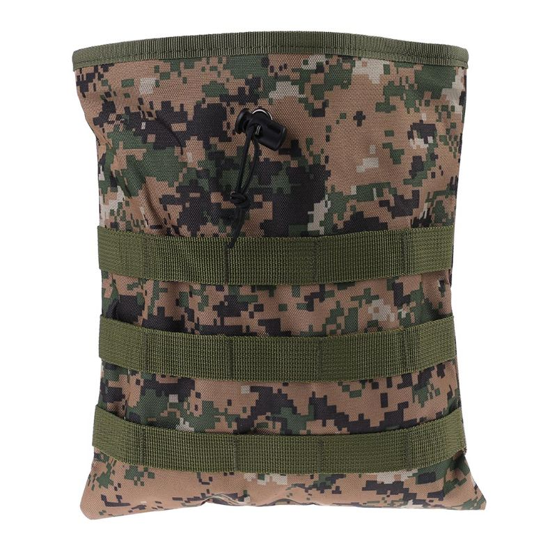Camo Metal Detecting Finds Recovery Waist Bag Pouch Drawstring Belt Treasure Bag 95AA