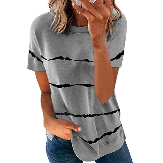 Свободная женская футболка модного покроя, коллекция лето 2021 1