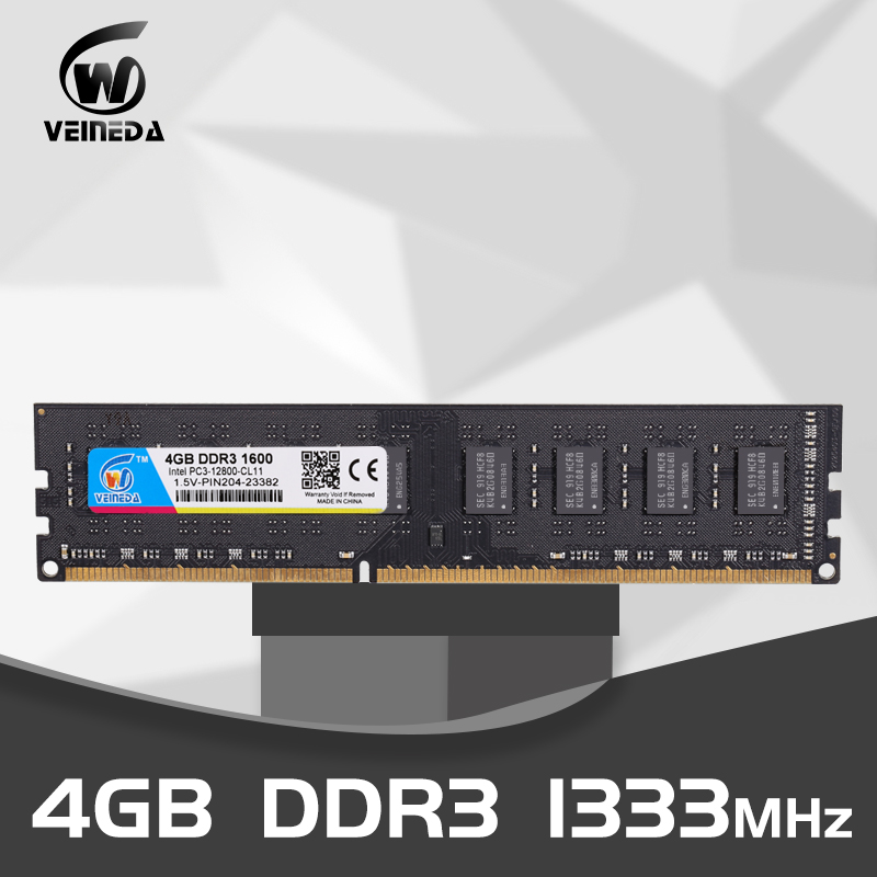 VEINEDA PC Memory RAM Memoria Module Computer Desktop DDR3 2GB 4GB 8GB PC3 1333 1600 MHZ 1333MHZ 1600MHZ 10600 12800 2G 4G RAM