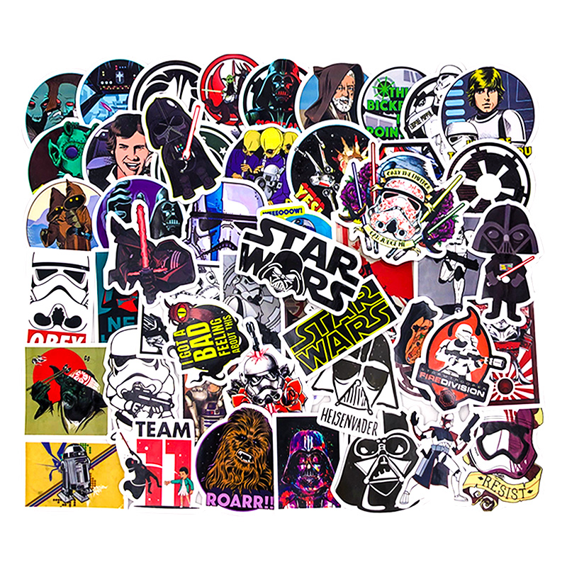 50 Kinds Star War Waterproof Fuel Cap Creative Sticker For Skateboard On Notebook Luggage Laptop Phone Styling Home Toy Sticker