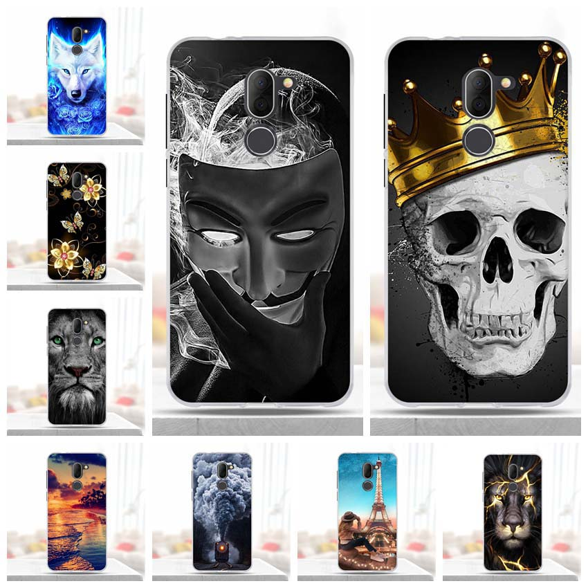 For Alcatel 3X Case Covers For Alcatel 3X 5058I 5058Y Phone Shell Colorful Printing Design Painted Soft TPU Case Shell Flower
